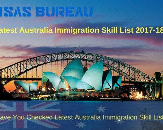 Latest Australia Immigration Skill List